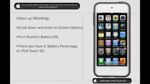 How to Enable Battery Percentage on iPod Touch 5g and other