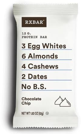 RxBar Whole Food Protein Bar - Chocolate Chip, 1.83oz, 12ct
