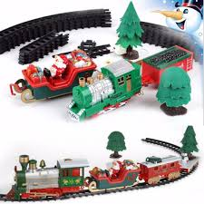 Musical Christmas Train And Carriages Tree Set With Light Gift
