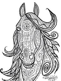 Horse Tribal Head Art By Marie Justine Roy Adult Coloring PagesColoring