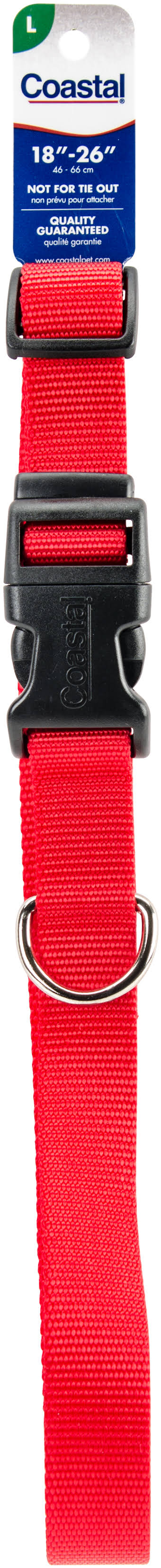 Coastal Pet Nylon Adjustable Dog Collar - Red, Large