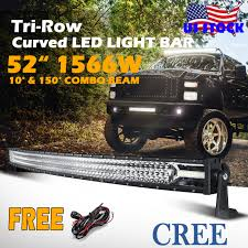 TRI-ROW 52inch 1566W CREE Curved LED Light Bar Offroad Truck Lamp ... 30 480w Led Work Light Bar Combo Driving Fog Lamp Offroad Truck Work Light Bar 4x4 Offroad Atv Truck Quad Flood Lamp 8 36w 12x Amazonca Accent Off Road Lighting Lights Best Led Rock Lights Kit For Jeep 8pcs Pod 18inch 108w Led Cree For Offroad Suv Hightech Rigid Industries Adapt Recoil 2017 Ford Raptor Race Truck Front Bumper Light Bar Mount Foutz Spotlight 110 Rc Model Car Buggy Ctn 18w Warning 63w Dg1 Dragon System Pods Rock Universal Fit Waterproof Cars