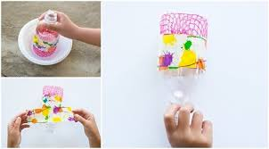 We Put A Twist On This Popular Post By Making Recycled Bottle Bubble Art Weve Tried Before But Not With Our Blower And Large
