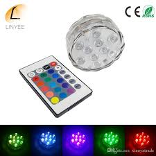 multi colored light bulbs submersible 10led underwater light
