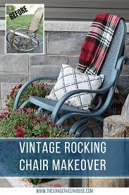 Rocking Chair Makeover Using Fusion Mineral Paint • The Vanderveen House