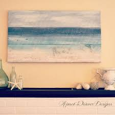 My Pink Life Seaside Inspired Paintings Using Salvaged Barn Wood