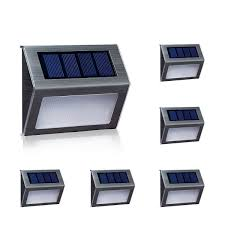 Solar Lights For Deck Stairs by Warm Light Solar Lights For Steps Decks Pathway Yard Stairs