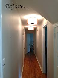narrow hallway ceiling lights l shaped and ceiling