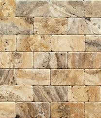 philadelphia 3 x 6 travertine tumbled brick tile 2 pcs sle