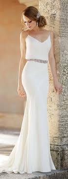 Luxury Simple White Dress for Civil Wedding