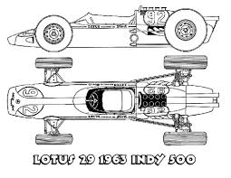 Image Of Printable Race Car Coloring Pages