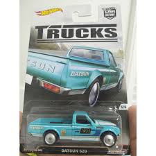 100 Datsun Truck Hot Wheels 620 Car Culture Series Aqua