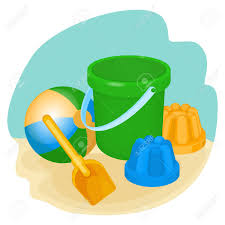 Childrens Toys And Supplies For Games Including Bucket Spade Ball Forms