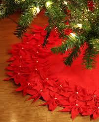 Poinsettia Christmas Tree Skirt Source