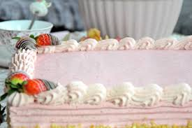 erdbeer sahne torte eckig mit küchencottage