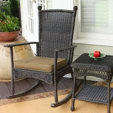 100 Final Sale Rocking Chair Cushions Tortuga Outdoor Portside Wicker Steel With Khaki