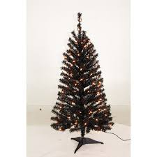 Holiday Time Pre Lit 35 Pomona Pine Artificial Christmas Tree Black Clear Lights