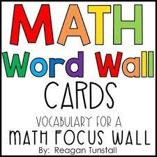 Math Word Wall Cards By Reagan Tunstall Teachers Pay
