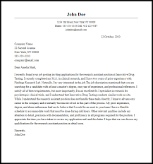 Professional Research Assistant Cover Letter Sample & Writing