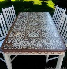 best 25 stenciled dining table ideas on diy upcycled