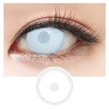 Halloween Contacts Cheap No Prescription by Zombie White Screen Halloween Lens