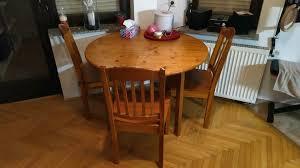 esstisch rund mit drei stühlen nur komplett in frankfurt