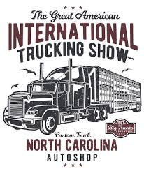 100 Great American Trucking The International Show Vintage Poster Design