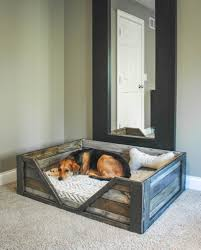How To Make A Platform Bed Frame From Pallets by Diy Pallet Dog Bed Such A Great Project House Inspiration