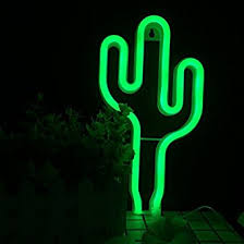 neon light led cactus neon signs wall decor lights home