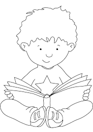 Child Reading Coloring Page Pages Ideas