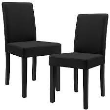 b ware 2x stühle esszimmer schwarz kunst leder polster stuhl