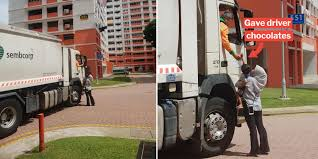 100 Truck Driver Pictures Sporean Mum Lets Her Child Give Chocolates To