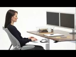 humanscale s float height adjustable table youtube