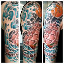 Irish Street Tattoo Old School Ship Sailor Jerry Style