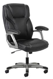 OFM Essentials Swiveling/Tilting Leather High-Back Chair, Black Item #  499598 Recliner Office Chair Pu High Back Racing Executive Desk Black Replica Charles Ray Eames Leather Friesian And White Hon Highback With Synchrotilt Control In Hvl722 By Sauda Blackmink Office Chair Black Leatherlook High Back Executive Derby High Back Executive Chair Black Leather Cappellini Lotus Eliza Tinsley Mesh Adjustable Headrest Big Tall Zetti