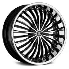 100 Black And Chrome Rims For Trucks 2CRAVE NO19 GLOSS BLACK WITH MACHINED FACE CHROME LIP WHEELS AND