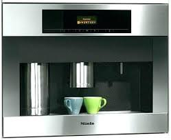 Plumbed Coffee Maker Built In Manual Miele