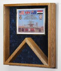 Military Shadow Box 3x5 Flag Certificate Display Case Blue Velvet Other Colors Available Click