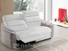 canap relaxation canape relaxation cuir blanc et gris lovely jpg