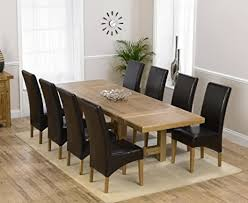 eiche massiv möbel esstisch mit 8 stühlen roma set