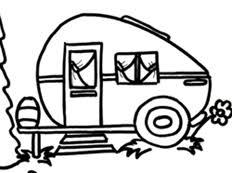Camper Clipart Black White