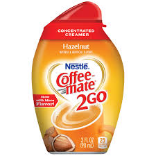Coffee Mate Hazelnut Liquid Creamer Pump Bottle 15L
