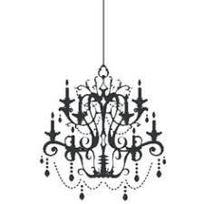 Chandelier Wall Decal Clipart