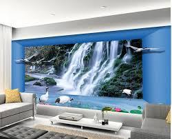 tapete 3d stereoskopischen wasserfall ästhetischen raum 3d wandbilder wallpaper für wohnzimmer vliestapete