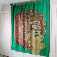 J Queen New York Curtains by Amazon Com Black Is Beautiful Shower Curtains 71