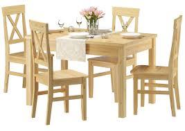 klassische essgruppe mit tisch 80x120cm und 4 stühle kiefer massivholz 90 70 51 a set 23