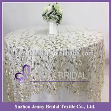 TC196A Embroidery Table Cloth Underlay Sequin Lace Fabric