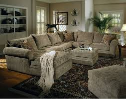 Beige Chenille Fabric Westwood Sectional Sofa Couch With Coffee Table Ottoman By Coaster Home Furnishings