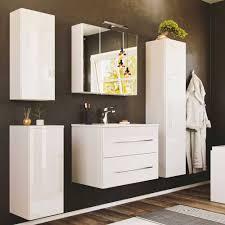 weiße badezimmereinrichtung hochglanz velika 5 teilig