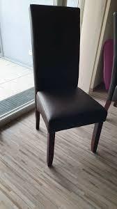 reserviert 4x mömax esszimmerstühle kunstleder dunkelbraun set